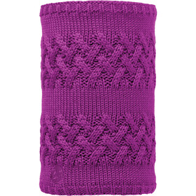 Buff Savva Knitted & Polar Fleece Neckwarmer Damen mardi grape